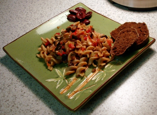 Rotelle with Mixed Summer-Vegetable Sauce