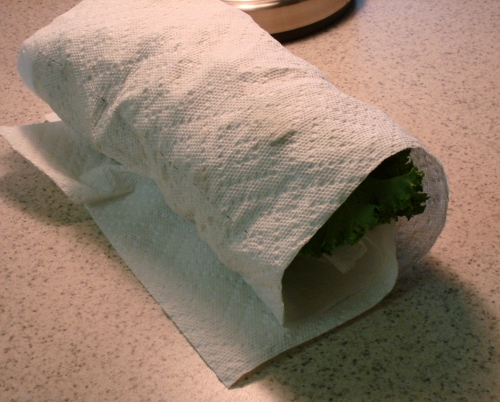 roll up kale