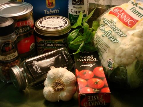 ditali w/ cauliflower ingredients