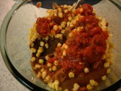 bean mixture before mix