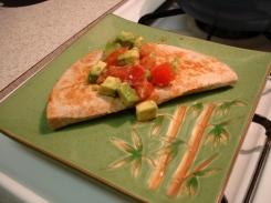quesadilla w/ avacado salad