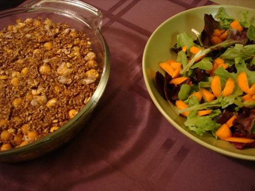kibbeh and salad