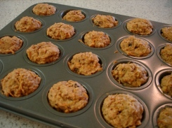 24-carrot muffins fresh from oven