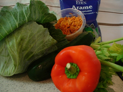 'all the way arame' salad - veggies