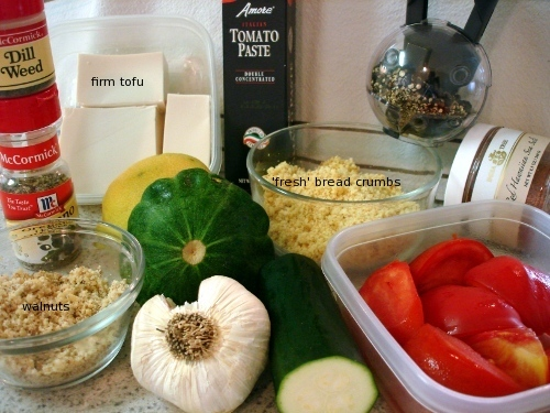 zucchini fritters - ingredients