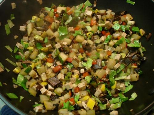 'leftovers' stir-fry