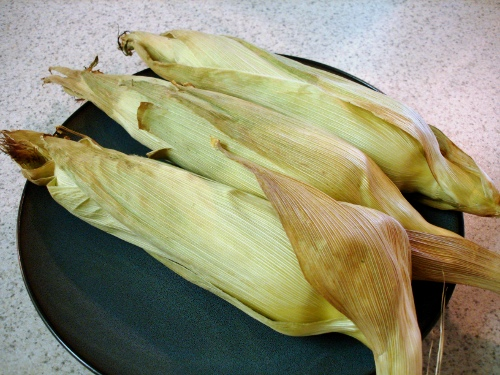 corn on the cob - fresh from the oven