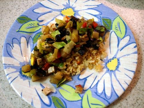 'leftovers' stir-fry/ fried rice