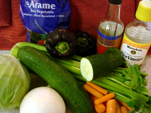 'all the way arame' salad - ingredients