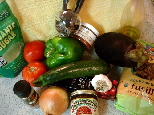 Rotelle with Mixed Summer-Vegetable Sauce - ingredients