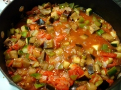 Rotelle with Mixed Summer-Vegetable Sauce - before pasta