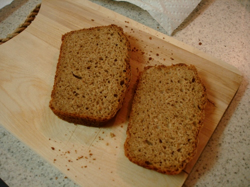 100% whole wheat bread vegan-ized and made into a sandwich loaf