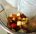 apple green smoothie - ingredients