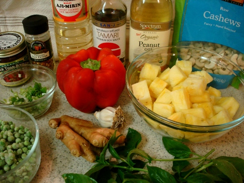 pineapple stir-fry - ingredients