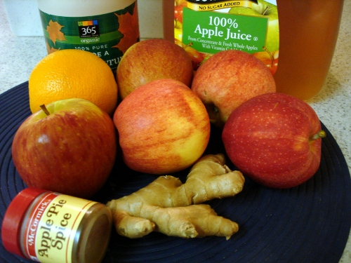 home-made apple sauce - ingredients