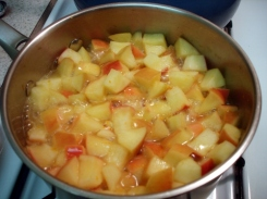home-made apple sauce - rolling boil