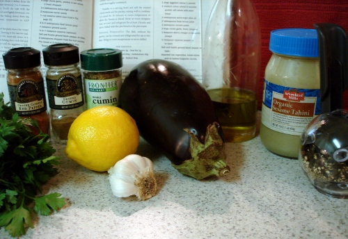baba ghanouj - ingredients