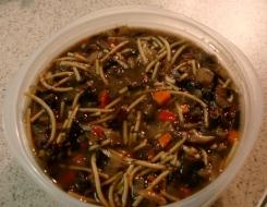 mushroom soup - stewy consistency