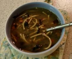 mushroom soup - leftovers