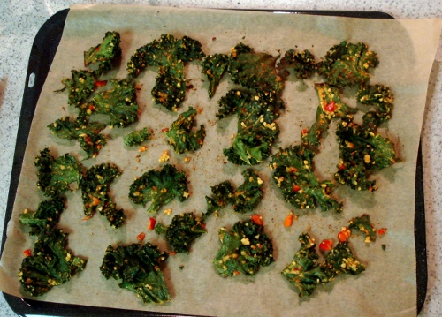 kale chips - after bake - 2