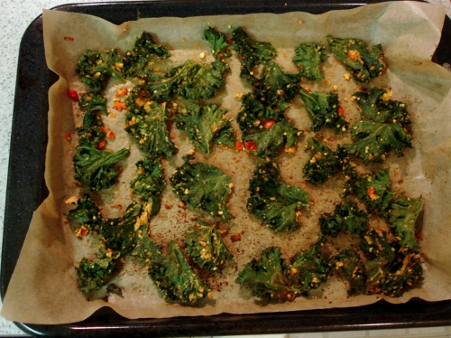 kale chips - after bake - 3