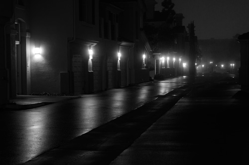 dark and foggy night
