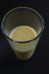 Dreamcicle Smoothie (frozen banana, seedless orange, soy milk)