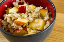oats with nectarines